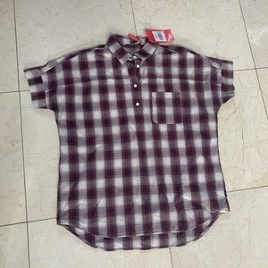 North Face NWT $55 Tanami Sz L Plaid Button Down